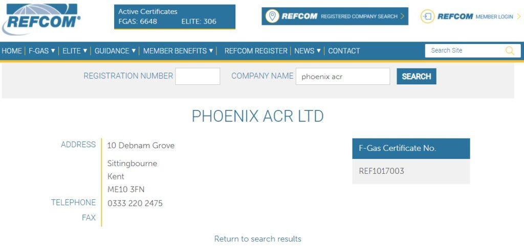 Refcom Info